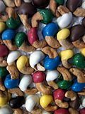 Colorful Hand-dipped Jumbo Cashews in Custom Colors
